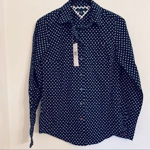 Tommy Hilfiger NWT Navy printed women's shirt XS
